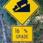 Thankfully, we were headed  downhill. [Photo: Dan Farrell]