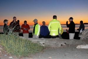 Map meeting, a nightly ritual. [Photo: Dan Farrell]