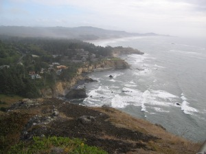 The view from Otter Crest Loop Road  south of Depoe Bay.