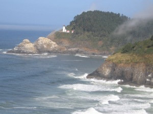 The Heceta Head Lighthouse south of Yachats.