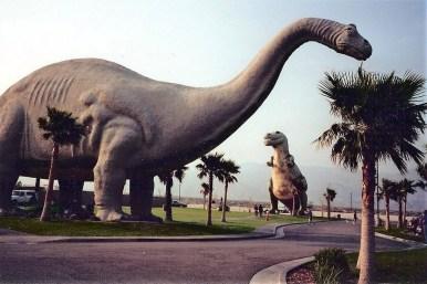 Dinosaurs near Cabazon, California.