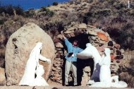 Maryanne arises from Jesus's tomb, Yucca Valley, California.