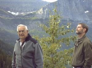 Dad and David, Glacier NP (Medium)