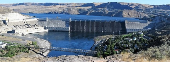 Grand Coulee Dam in eastern Washington.