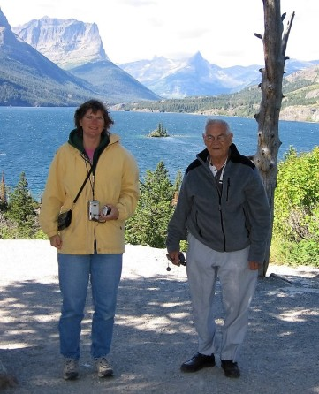 Maryanne and Dad in Glacier National Park.