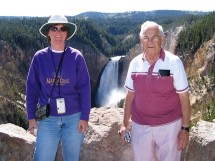Maryanne and Dad at the Lower Falls of the Yellowstone River.
