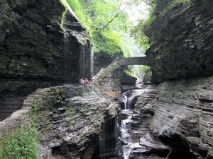 Exploring the beautiful gorge in Watkins Glen State Park.