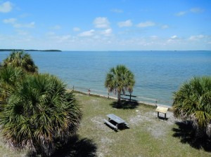 The view from the visitor center at Honeymoon Island State Park.