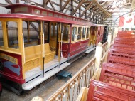 This San Francisco cable car was built to replace one lost in the fires caused by the 1906 earthquake.