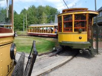 The museum runs a variety of restored trolleys on its tours.
