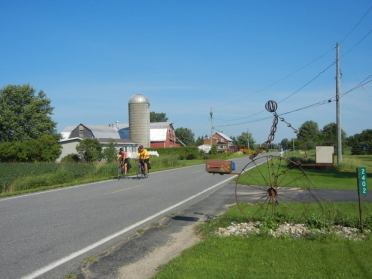 The riding was mostly rural again on the return from Rouses Point. [TD]