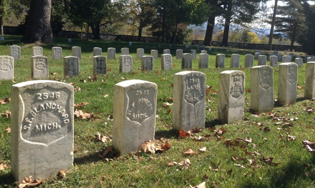 Antietam National Cemetery contains the graves of 4,776 fallen Union soldiers. Confederate soldiers were buried elsewhere, in nearby Hagerstown, Frederick, and Shepherdstown.