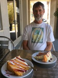 A treat not to be missed: Florida Sunshine Cake at the Camelia Court Café in the Harn Museum of Art, on the University of Florida campus in Gainesville.