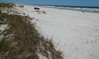 Crescent Beach south of St. Augustine, where we briefly touched the Atlantic shore.