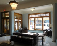 The Gunter Hotel opened in 1897, when Frostburg was a booming coal mining town. It now houses both hotel rooms and rental apartments. The new owners are restoring the hotel to its former elegance.