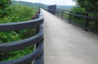 Of the several viaducts on the GAP trail, the Salisbury Viaduct just west of Meyersdale is the longest, at over a third of a mile across a broad valley.