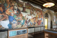 The Beach Chalet, a restaurant and pub, sits at the ocean end of Golden Gate Park in San Francisco. It is worth visiting just to see the Depression-era murals depicting local sites and scenes that cover its lobby walls.
