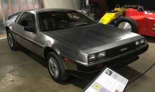 "This innovative 1981 DeLorean DMC-12 has a brushed stainless-steel exterior and gull-wing doors that open upward. DeLorean sales never took off, and production ceased after only two years. But the car gained lasting fame when the 1985 movie ""Back to the Future"" featured a DeLorean modified for use as a time machine."