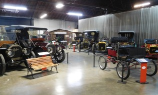 The museum has a wealth of early automobiles.