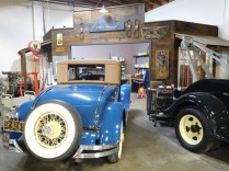 At Phil's Garage, volunteer mechanics work to keep museum vehicles in operating condition.