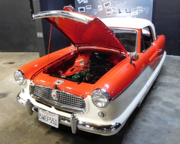Relatively small and fuel efficient, the 1960 Nash Metropolitan was an exception to the post-war trend in America toward large and powerful cars. I had hoped they might have on display a Nash Rambler station wagon, our first family car that I remember, but I didn't see one.
