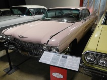 Inspired by Americans' fascination with jets and rockets, tail fins began appearing on automobiles in the 1950s. They reached the zenith of their extravagance at the end of the decade, as exemplified by this pink 1959 Cadillac.