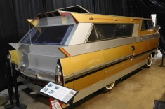 This one-of-a-kind, aeronautically inspired 1971 Star Streak was designed and built by a retired Air Force officer. It includes all the amenities you'd expect in a motorhome, along with one you wouldn't: bullet-proof glass!