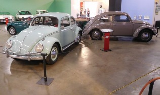 "Two Volkswagen ""Bugs"" from 1949 and 1961. Not much different."