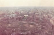 The view north toward the Ellipse and the White House. Little seems to have changed from this perspective, but on the ground, security restrictions have put many of the streets in this view off limits to the public, including the circular drive around the Ellipse.
