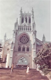 Another stop on the bus tour was Washington National Cathedral, still more than 20 years from its completion in 1990. We also went to Arlington National Cemetery, where we visited President Kennedy's grave and watched the changing of the guard at the Tomb of the Unknown Soldier.