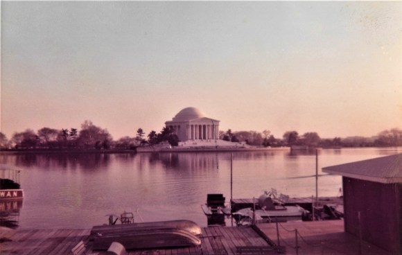 The colors are now faded, but this image of the Jefferson Memorial at dusk is one of my favorites.
