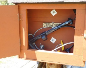 The boxes contain a pump and tools secured to a cable.