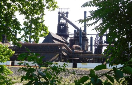 Industrial ghosts: blast furnaces at the remains of the Bethlehem Steel Plant.