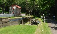 One of the two remaining lock houses on the Lehigh Canal.