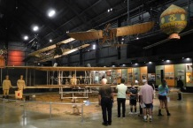 The Early Years Gallery has a reproduction of the 1909 Wright Military Flyer, the world's first military airplane.
