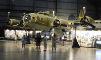 B-17 Flying Fortresses and B-24 Liberators formed the backbone of the Army Air Forces' strategic bombing force during World War II.