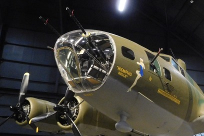 """One corner of the World War II Gallery is devoted to the newly restored B-17F """"Memphis Belle."""""""