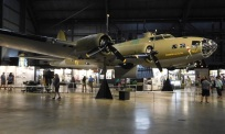 It was called a Flying Fortress for a reason; it bristled with defensive guns. The later model B-17G also had a gun turret in the nose.