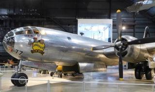 "This Boeing B-29 Superfortress named ""Bockscar"" dropped the atomic bomb on Nagasaki, Japan."