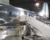 This aircraft was the first built to transport a president. Franklin Roosevelt used it only once, to fly to the Yalta Conference in 1945 to meet with Churchill and Stalin. The aircraft had an elevator in the rear (the rectangular box) to accommodate the president in his wheelchair.