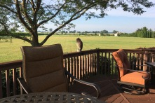 In June I visited my brother Ed and sister-in-law Nancy, who live in rural Ohio. This is the view from their back deck. They have several acres of grass to mow, but it sure is quiet there. We visited the nearby U.S. Air Force Museum, which I wrote about in a previous post.