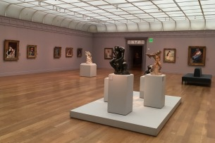 Formerly known as the Clark Art Institute, The Clark in Williamstown, Massachusetts, is one of my favorite art museums. It houses an impressive collection and is especially known for its many works by Renoir. This central room is mainly devoted to that French Impressionist master.