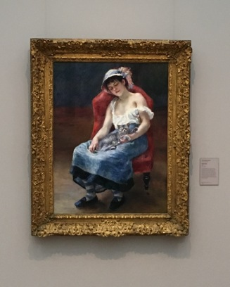 """My favorite Renoir painting, """"Sleeping Girl,"""" or as I like to call it, """"Sleeping Girl with Cat."""""""