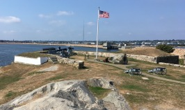 Fairhaven was among the many small towns I drove through along the south coast of Massachusetts. Fort Phoenix, in the town's waterfront park, dates back to the American Revolution. The tiny fort guarded the entrance to the Fairhaven–New Bedford harbor.
