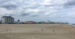 The beach was even emptier than the boardwalk.