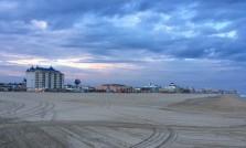 The sun sets behind Ocean City.