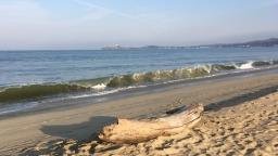 Half Moon Bay Beach, California.