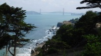 The Golden Gate Bridge from Land's End, San Francisco.
