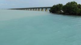 Looking back toward Marathon from Pigeon Key, Florida Keys.