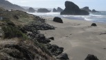 The Oregon coast south of Port Orford.